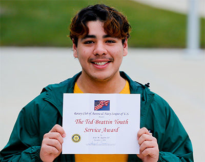 Tomcat Jesus Aguirre wins Ted Brattin Youth Service Award